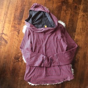 Lucy striped pullover hoodie size large